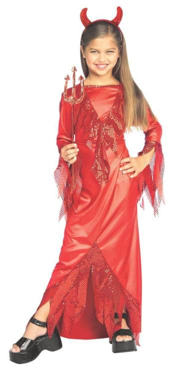 Kids Devilish Diva Costume-0