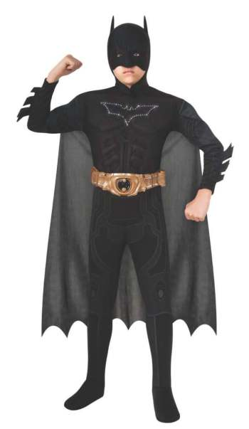 Light-Up Deluxe Muscle Chest Kids Batman Costume-0