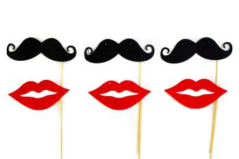 Moustache & Lips - 10PC-0