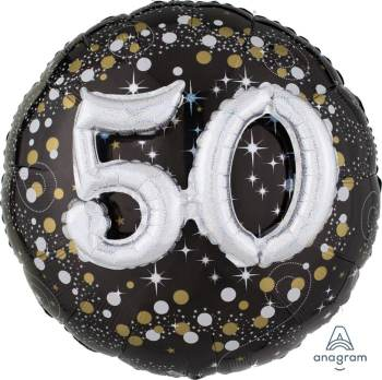 "Sparkling 50th Birthday Balloons 36"" P75-0"