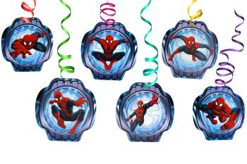 Spiderman Swirl Decoration - 12PC-0