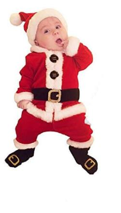 Santa Romper Dress for Kids - Age 1 - 2-0