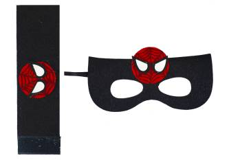 Spiderman Eye Mask & Wrist Band Set-0