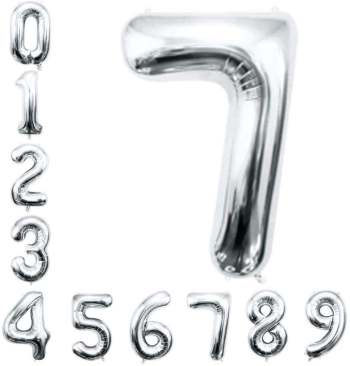 "16"" Numerical 8 Silver Balloon"