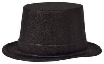 Glitter Top Hat Black_702536