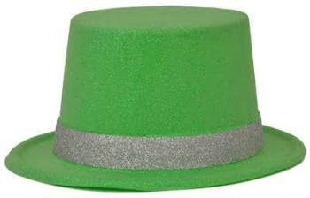 Neon Green Glitter Hat_702533