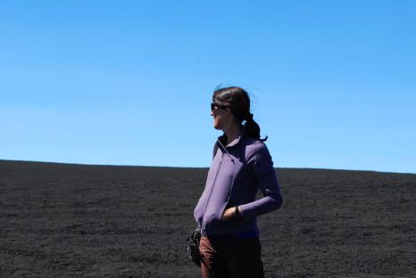 desolate stofvlakte op de top