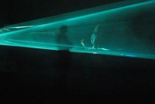in de lichtsculptuur
