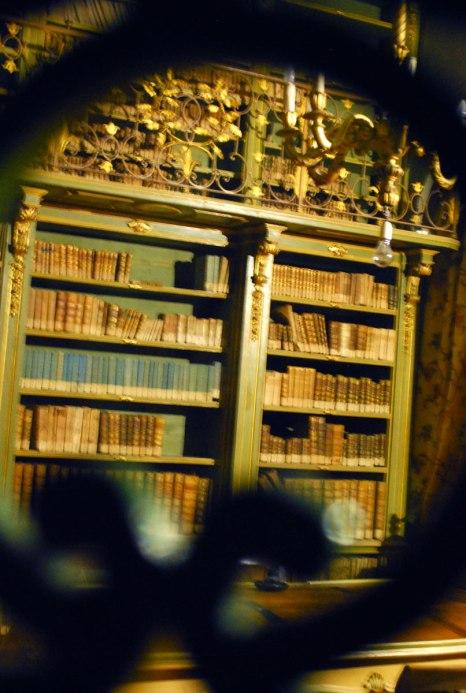 bibliotheca in het castello van Barolo