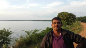 On Mahawilachchiya reservoir bund