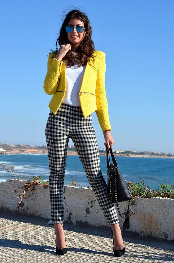 yellow blazer work style
