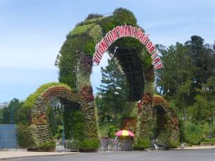 Gate to Dalat Flower Park