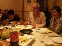 Abendessen in Nanjing: Harald (GER) und Angela (GBR)
