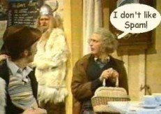 Monty Python spam skit image