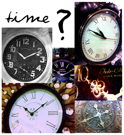 Clock compilation TIME  photograph copyright Alexis Marie Chute Wanted Chosen Planned
