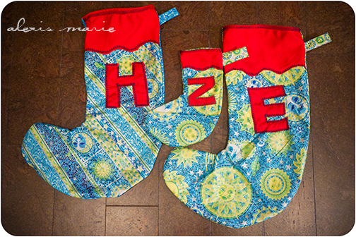 Kids Stockings made by and photograph copyright Alexis Marie Chute Wanted Chosen Planned 01