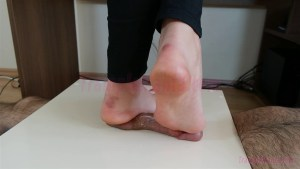 Crystal Barefoot Cock & Ball Trample