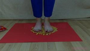 Carmen Barefoot Crackers Crushing Video