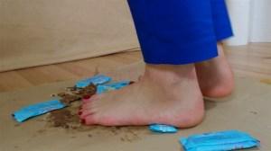 Carmen's Barefoot Chocolate Crushing Video
