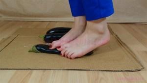 Carmen's Barefoot Eggplant Crushing Video