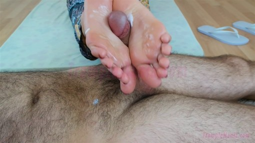 Perfect Footjob with Perfect Feet and Arches