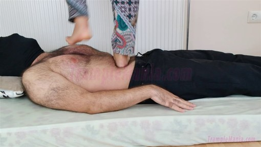 Crystal Tramples her Slave under her Sexy Feet