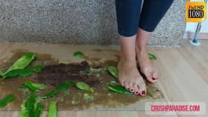 Barbara's Barefoot Cucumber Squishing