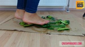 Rachel's Bare Feet Cucumber Crushing Video