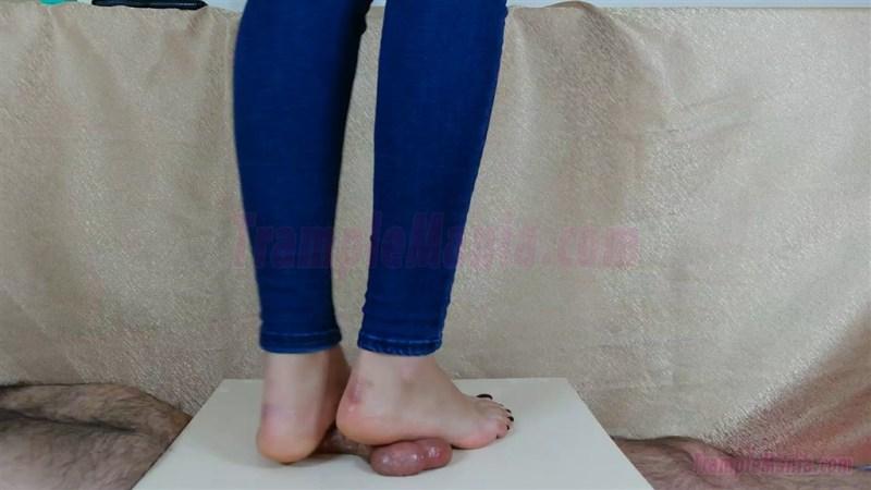 Crystal Rewards Her Slave with a Footjob