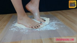 Crystal's Bare Feet Pizza Dough Crush