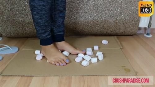 Crystal's Barefoot Food Trampling