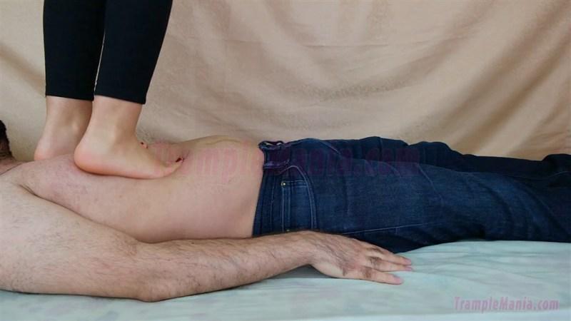 Caroline Barefoot Full Weight Trampling