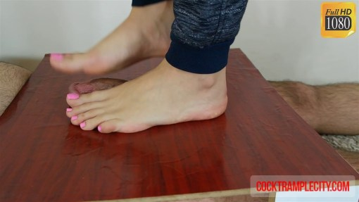 Half Cock Trample Half Footjob by Crystal