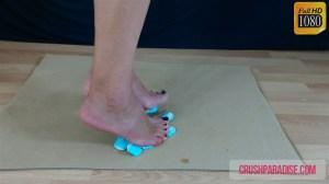 Mature Donna's Barefoot Marshmallow Crush