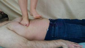 Rachel Full Weight Barefoot Trampling