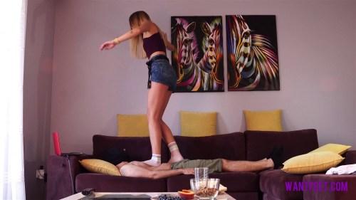 Sandras First Trampling Video