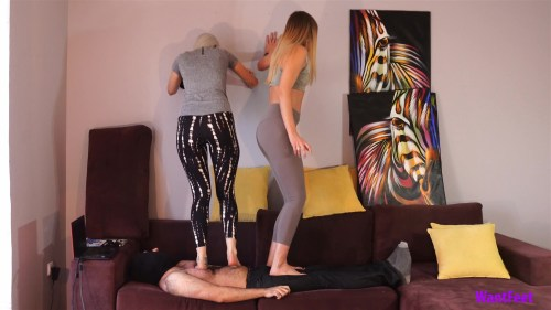 Jasmine and Sandras Barefoot Trampling