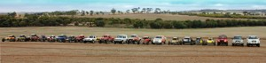 Cars in park ferme at the Narrogin Chase