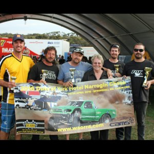 Outright winners and sponsors of the 2016 Duke of York Hotel Narrogin Chase