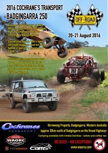 2016 Cochranes Transport Badgingarra 250 Poster