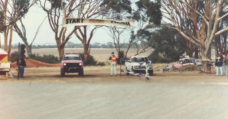 Start/Finish Line - WAORRA Event in Dumbleyung Western Australia