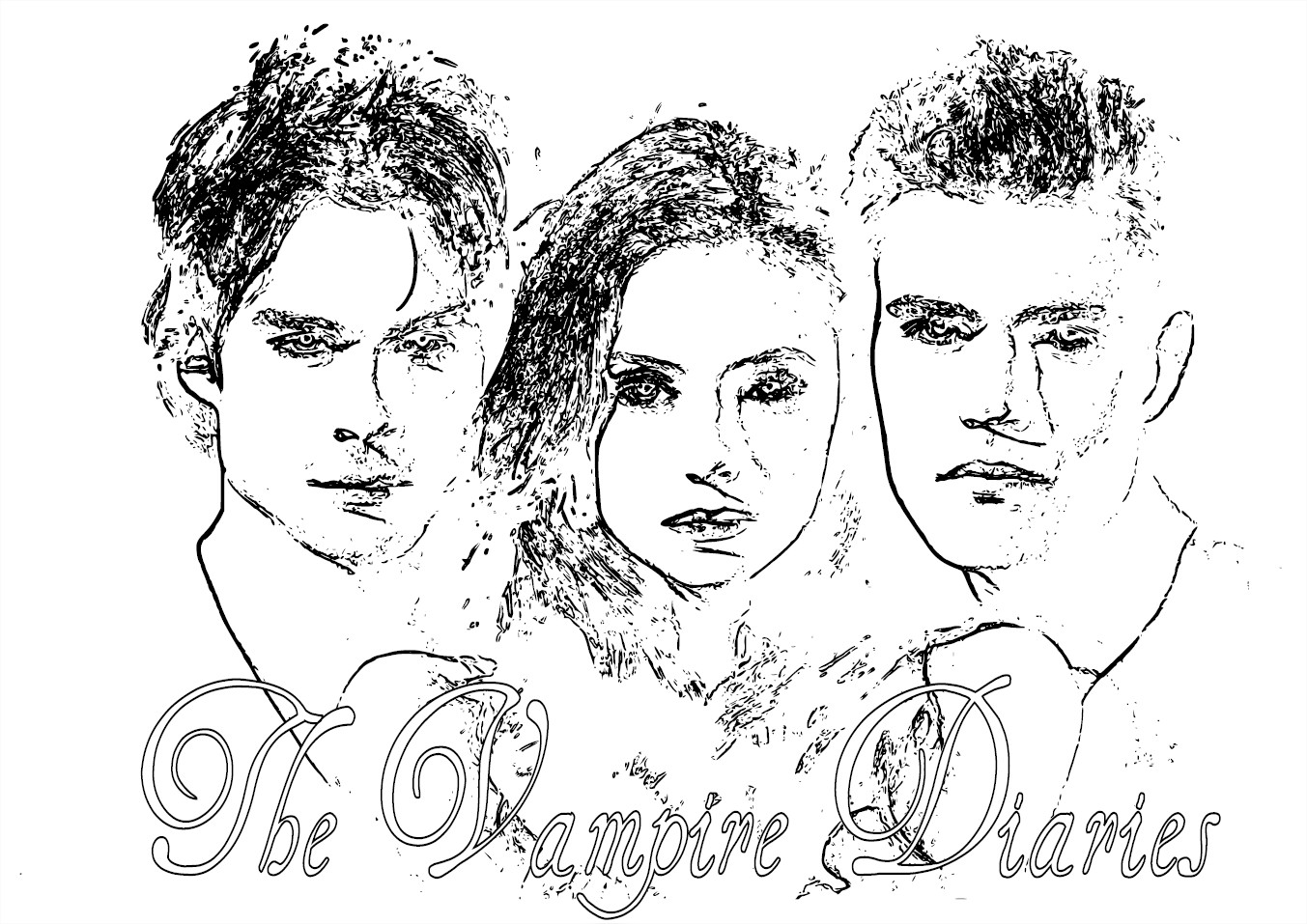 Vampire Diaries Coloring Pages