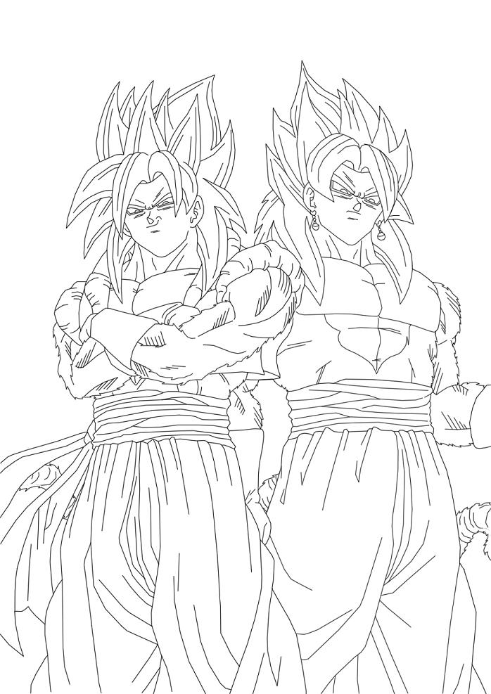 gogeta ssj4 coloring pages coloring pages now