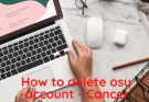 How to delete osu account