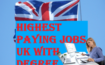 Highest Paying Jobs UK with Degree