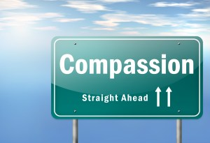 """Highway Signpost """"Compassion - Straight Ahead"""""""