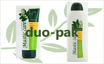Mastiek handcreme en bodylotion duo-pak