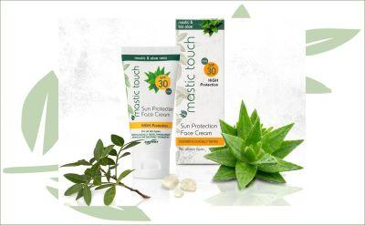 Mastiek zonnebrandcrème voor gezicht