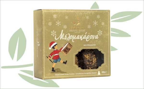Griekse honingkoekjes chocolade