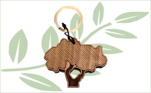 Mastiekboom sleutelhanger gratis